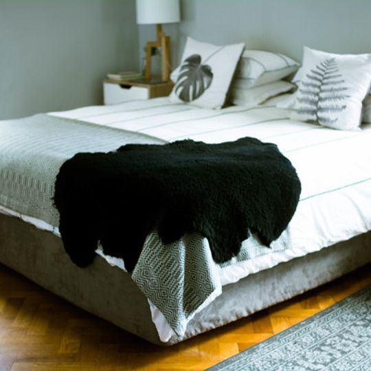 South African Merino Sheepskin black