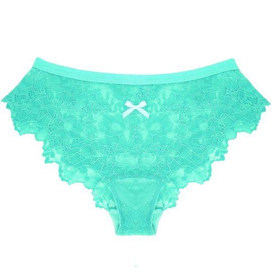 Lace Panty in Mint Pistachio