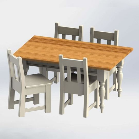 Little Family Table & 4 Chairs