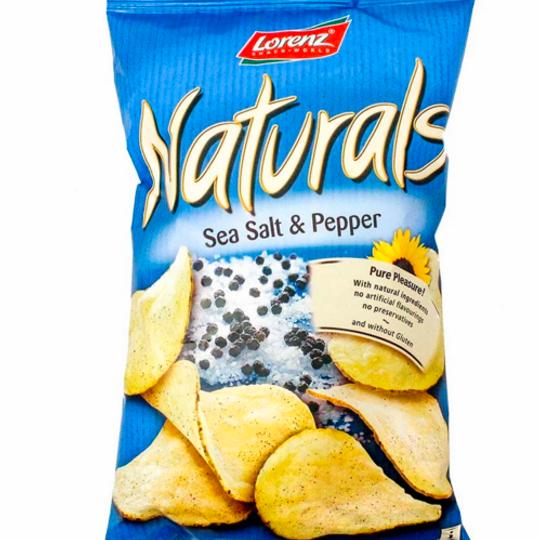 Potato Crisps Naturals Sea Salt And Pepper (100g)
