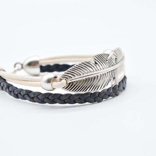 Silver Leaf Bracelet