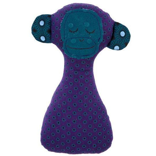 Rattle / Monkey Purple and Blue - M0193