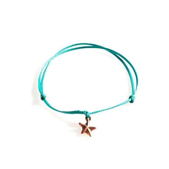 DAINTY Single Thread Bracelet Star - Teal