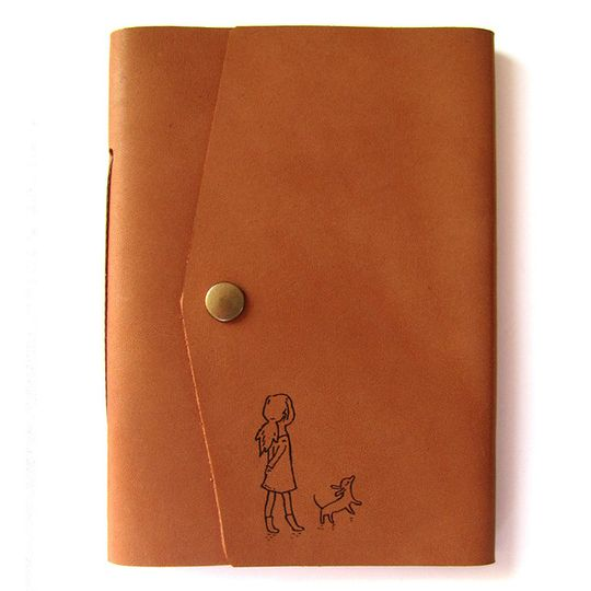 Travel Journal (A6 size) - Girl with Dog