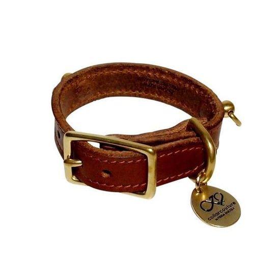 Leather Collar / Light Brown
