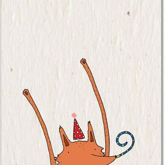 Greeting Card | Celebrating Fox