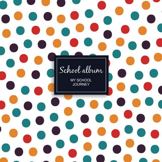 School album - colourful dots