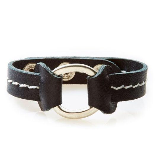 STUD Leather Bracelet with studs Black