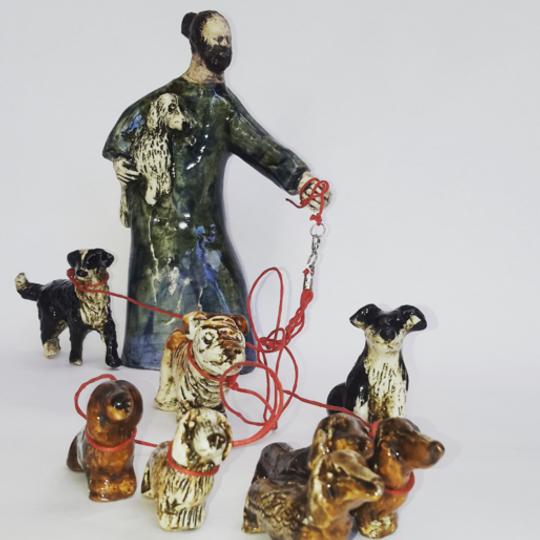 Sculpture, Dog Walker