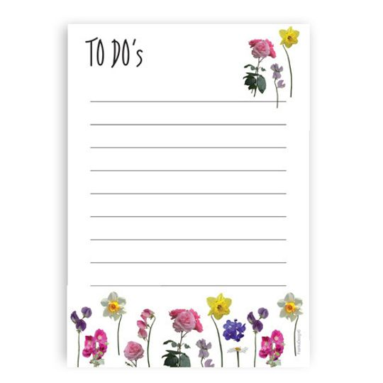 A6 Notebook - To Do's with single flowers