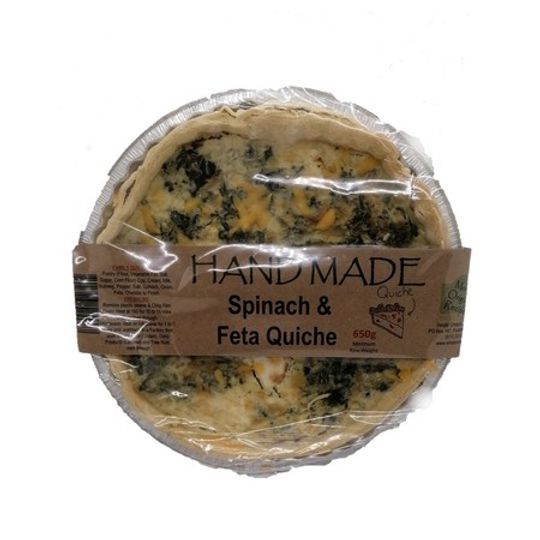 Family Quiche Spinach & Feta (650g)