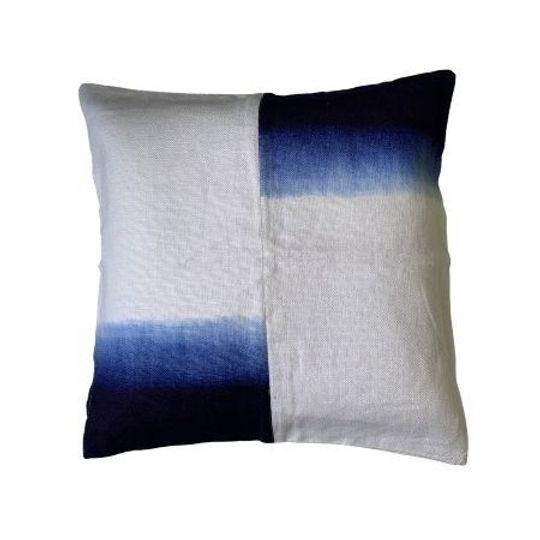 Dip Dye Blue Cushion