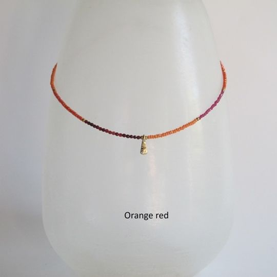 Miniature crystal and stone necklace