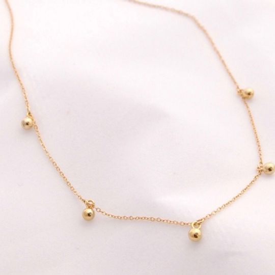 The Gold Ball Necklace