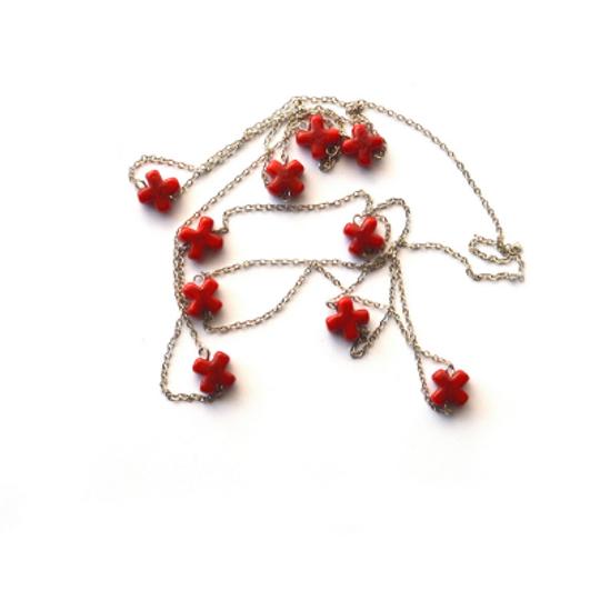 Nunu Glass Crosses Necklace