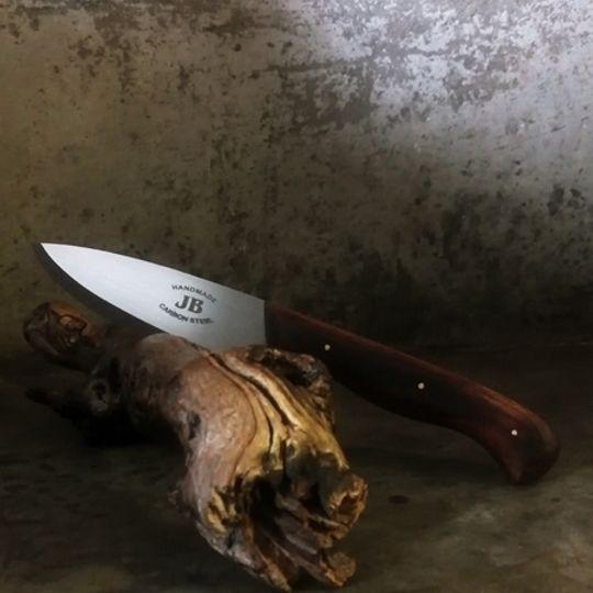Bushcraft Knife with Leather Sheath