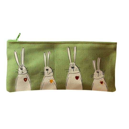 Hart bunnies zip and pencil bag