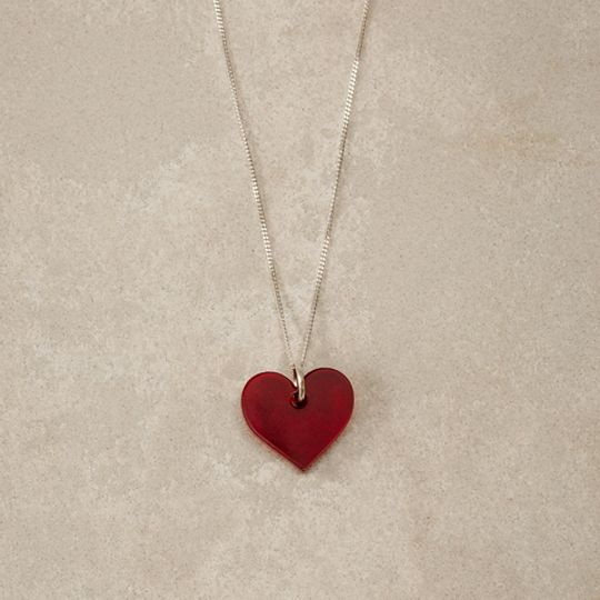 Perspex Heart Necklace