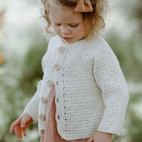 Cotton crocheted cardi