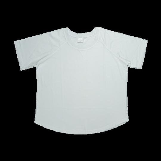 Ladies Short Sleeve - V-Detail White