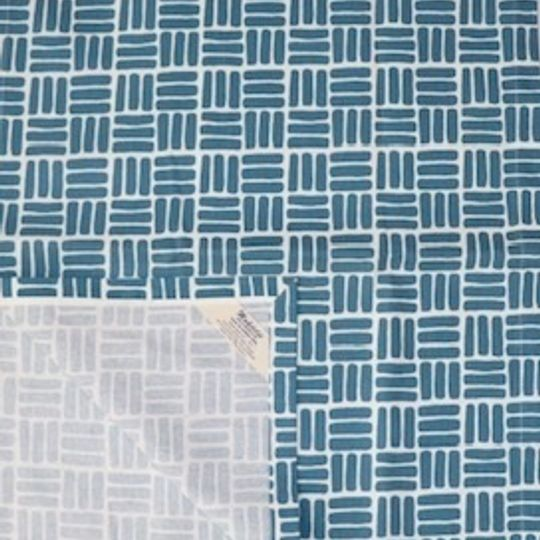 Teal weave runner printed on 100% cotton