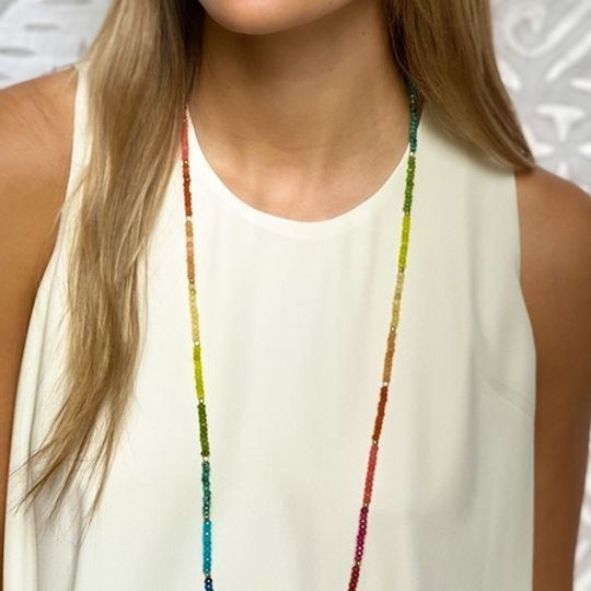 Long stone necklaces