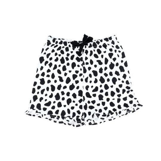 Girls Short Pants - Frill Cow (Cotton Knit)