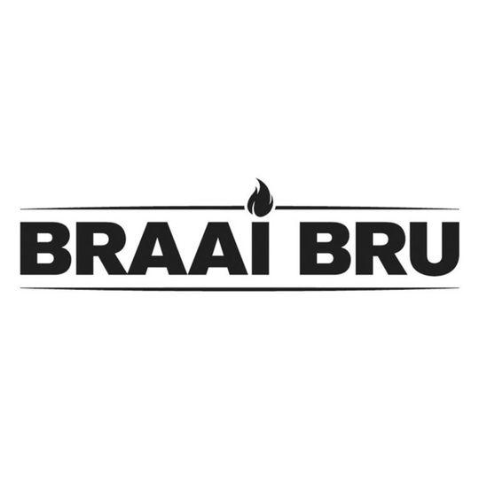 'Braai Bru' Sticker Black