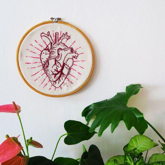 Custom Embroidery Piece Heart