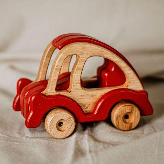"""""""Noddy"""" Wooden Toy Car"""