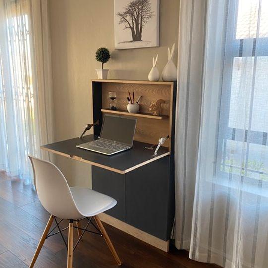 WFH Range: Desk Shelf with Cupboard