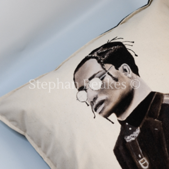 Man with Glasses | Original Cushion