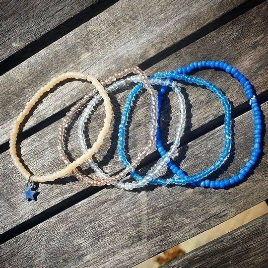 5 pack beaded bracelet set