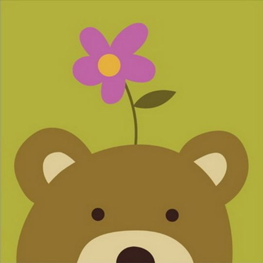 Bear and Flower
