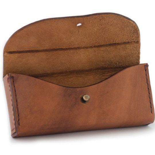 Trailblazer (Teak) – Leather Glasses Case