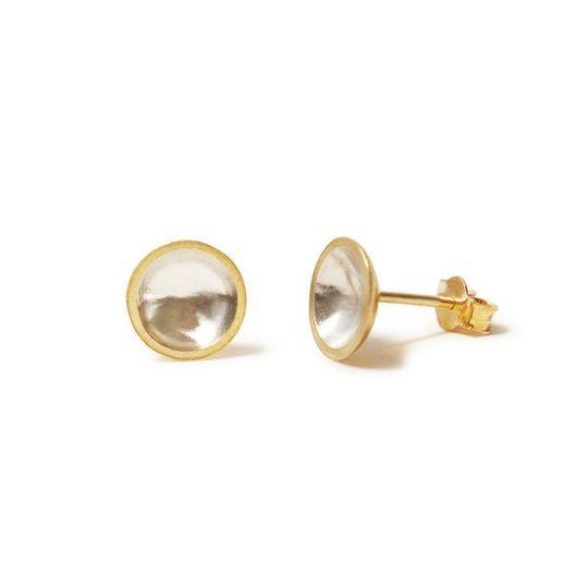 Gold & silver domed earrings