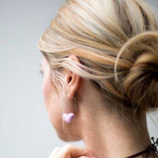 Plain Glass Heart Earrings