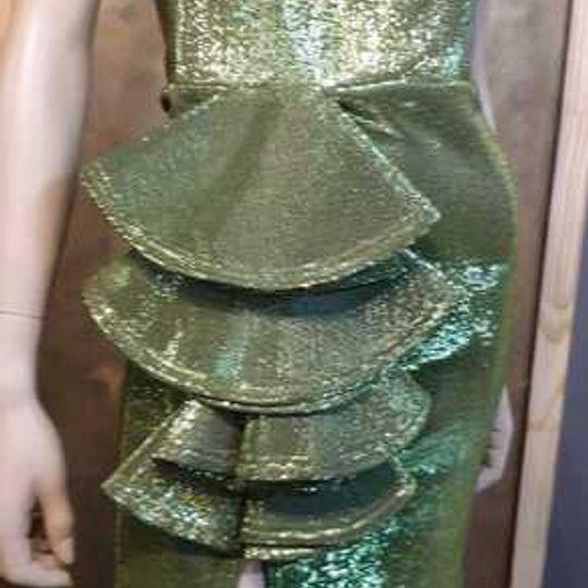 GREEN FOIL DRESS