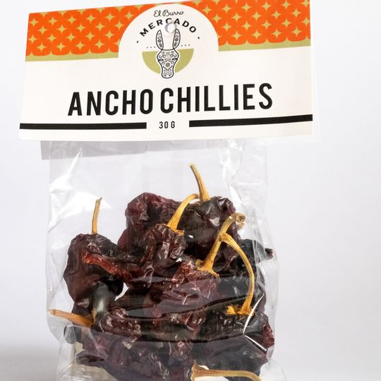 El Burro Dried Ancho Chillies 30g