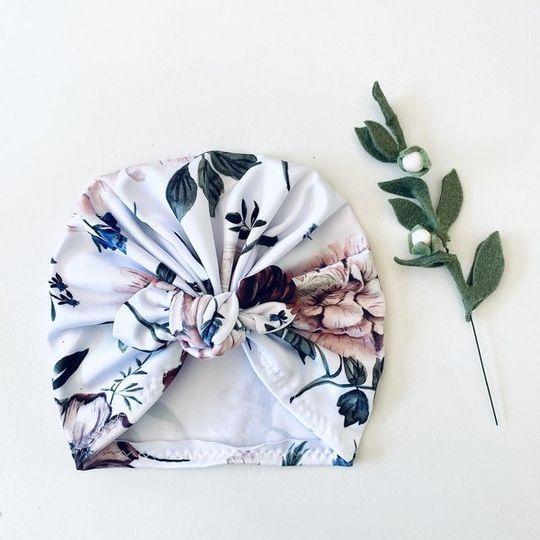 Turban - Botanical - White