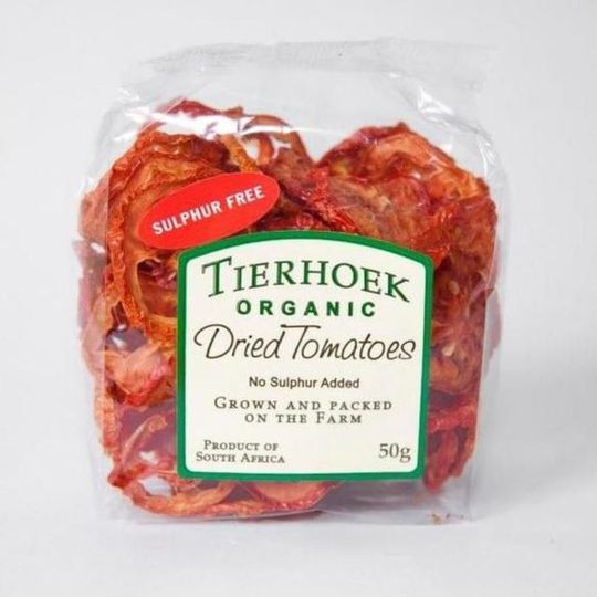 50g Tierhoek Fruit Cellar Dried Tomatoes/Onion.
