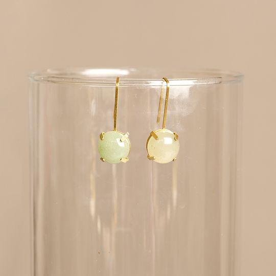 Drops with Fleur de lis - Single hanging Gemstone