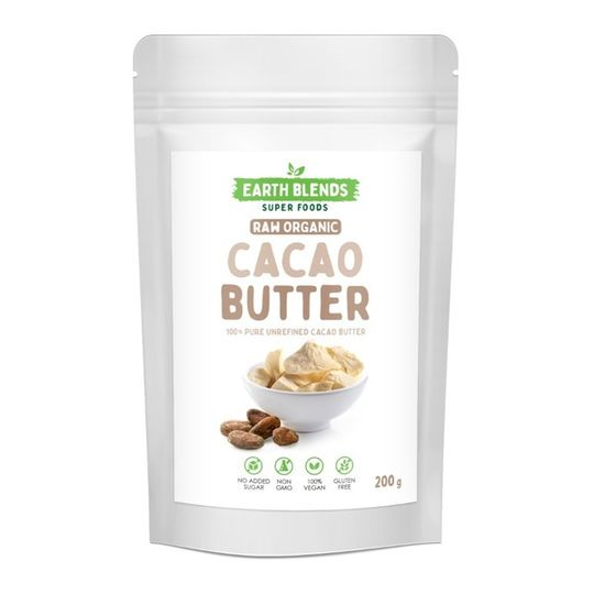 Earthblends Organic Cacao Butter - (200g)