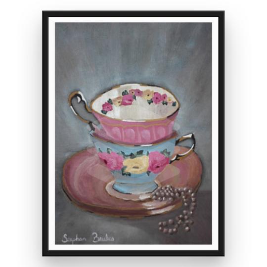 Two Teacups | Original Prints on Fine Art Paper
