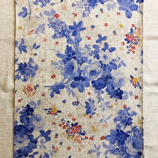 Delft Floral Linen Cloth