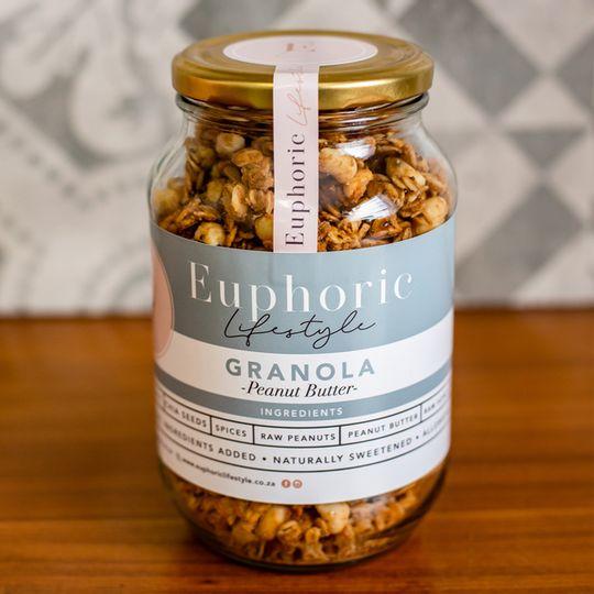 Euphoric Lifestyle Peanut Butter Granola 500g jar