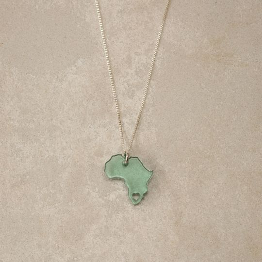 Perspex Africa Necklace