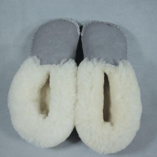 Handmade sheepskin slippers - Grey