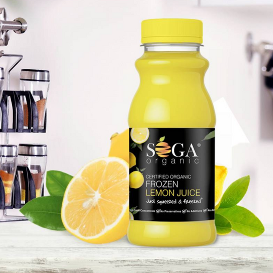 SOGA Organic Frozen Lemon Juice (250ml)