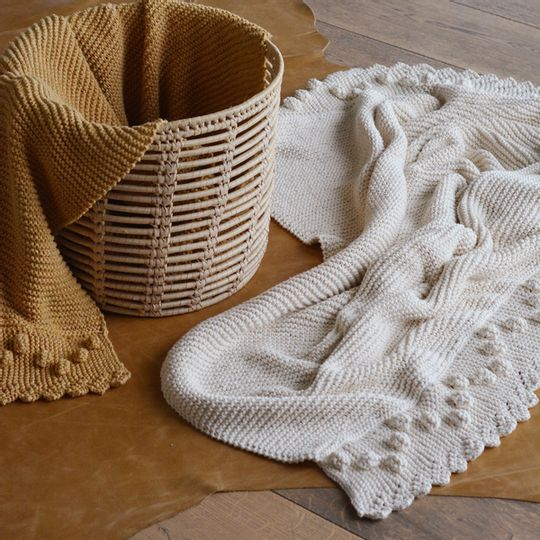 Bobble lace edge blankets – Eco Cotton – Homeware